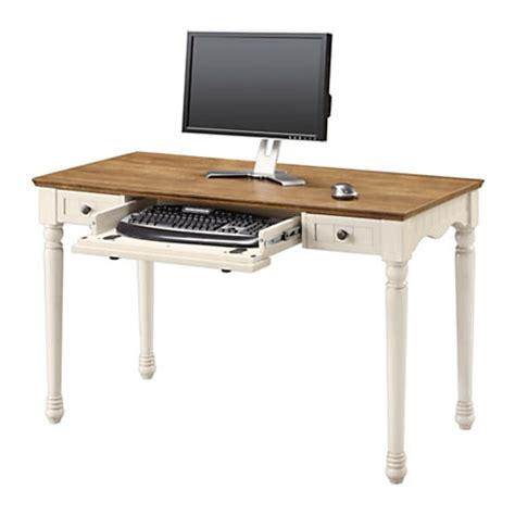 Office Depot White Desk Whalen Chelsea Collection Writing Desk Antique White By Office Depot Officemax