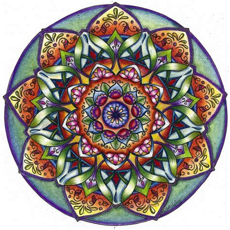 colored mandala using coloring books is for you whim magazine