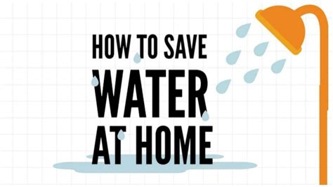 how to save water at home
