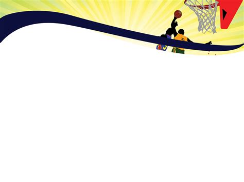 sports templates sports basketball powerpoint templates blue sports