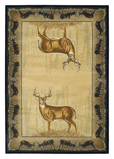 buckwear wildlife themed area rugs believe deer bass