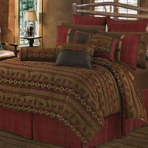 cabin bedding sets cascade lodge comforter bed set