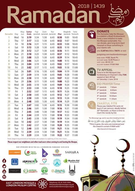 ramadan fasting hours 2018 ramadan 2018 timetable for the uk don t forget the prayer