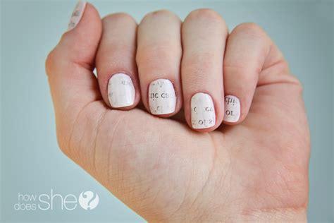 tutorial nail art paper diy newspaper nails tutorial easy and cute nail art