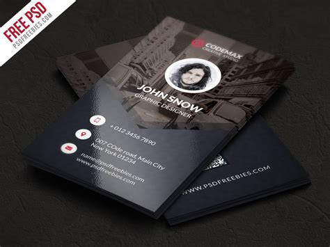 freebie modern business card free psd template free