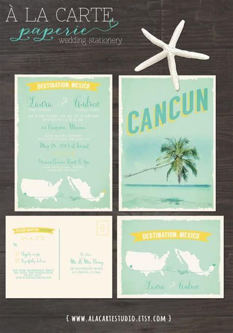 when do i send invites for a destination wedding cancun mexico destination wedding invitation and rsvp cards design fee 2304113 weddbook