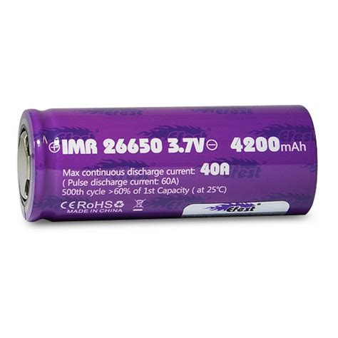 Efest Purple Imr 26650 Li Mn Battery 3500mah 3 7v 64a With Flat Top 26650v1 efest purple imr 26650 li mn battery 4200mah 3 7v 40a with flat top 26650 purple