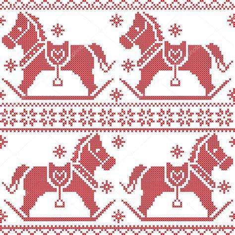 nordic christmas pattern vector scandinavian seamless nordic christmas pattern with