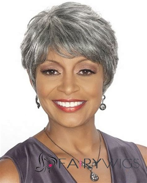 show african american women over 50 with gray hair that is there own pictures of short hairstyles for black women over 50