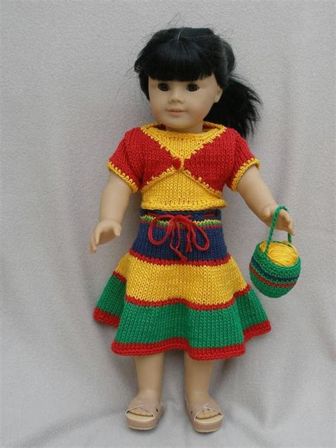 Rempel Knit time downloadable knitting pattern for any 18 inch doll includ