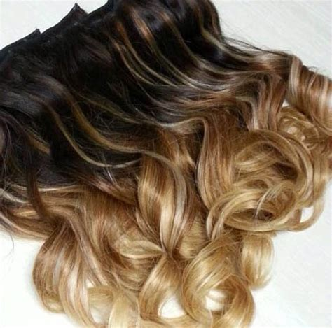 ombre hair extensions in 16 inch wave clip in hair extensions beautiful three