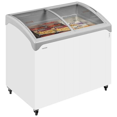 Freezer Sliding Glass tefcold nic300sceb sliding curved glass lid chest freezer