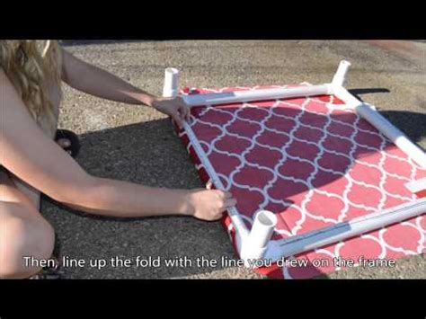 diy pvc dog bed how to build a pvc dog bed youtube
