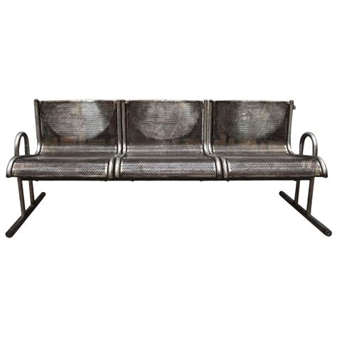 bench metal french industrial metal bench circa 1960 at 1stdibs