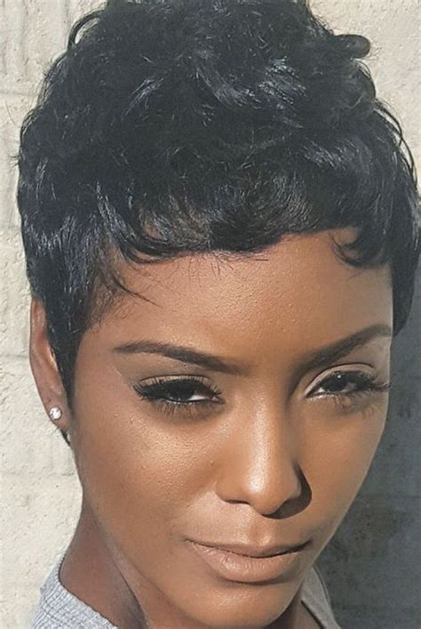 short hairstyles african hair pixie pinteres