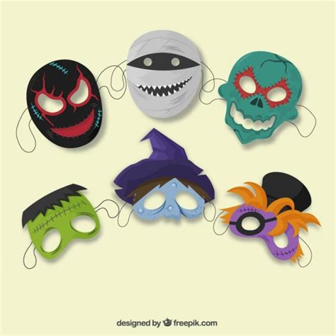 download printable halloween masks halloween masks vector free download