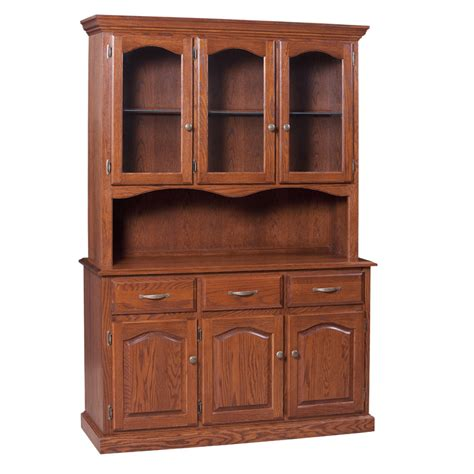 Traditional 3 Door Buffet and Hutch   Home Envy Furnishings: Solid Wood Furniture Store
