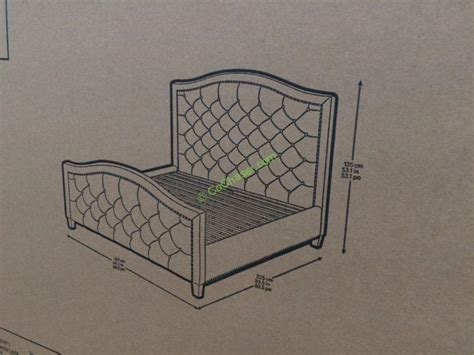 costco upholstered headboard pulaski furniture upholstered queen bed costcochaser