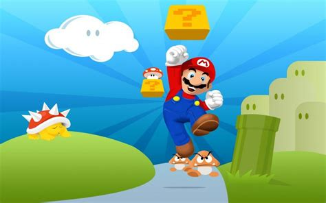 wallpaper super mario bros jumping