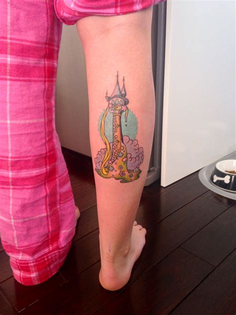 tangled tattoo rapunzel s tower from tangled done by caroline at