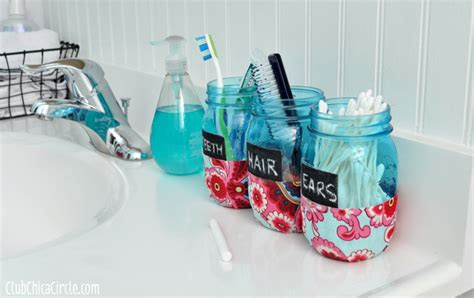 craft projects for tweens bathroom organization jars diy
