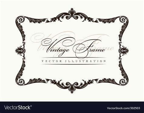 royalty free vector ornamental with 343155995 stock vintage frame decor ornament royalty free vector image