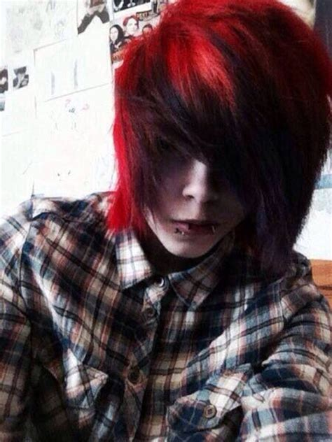 emo hairstyles with red highlights 55 best emo hair images on pinterest cute emo boys emo