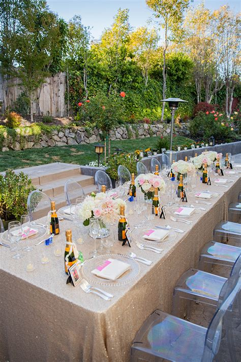 backyard decorations party styling a glam engagement party in your backyard 187 napa