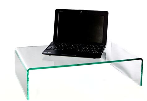 Counter Clear Acrylic Monitor Riser Stand Desk Top Laptop Riser For Desk