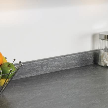 Evora Grey Slate upstand   Kitchen worktop upstands