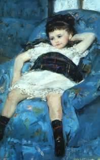 in blue armchair cassatt