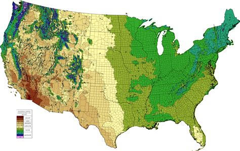 map us rainfall climate types