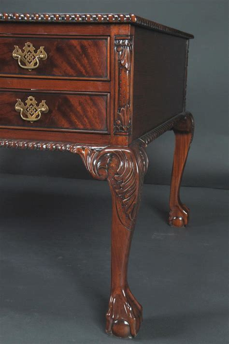 And Claw Desk by Large Chippendale And Claw Mahogany Partners Desk For