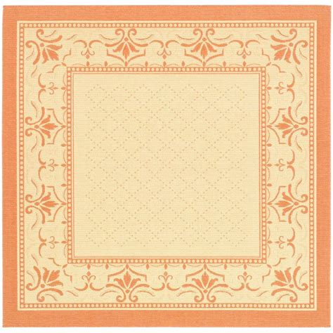 safavieh cy2326 3201 courtyard indoor outdoor area rug beige lowe s canada safavieh courtyard terracotta 7 ft 10 in x 7 ft 10 in indoor outdoor square area rug