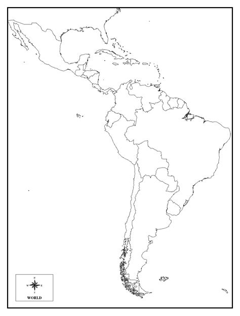 and south america blank map quiz best photos of printable map of america