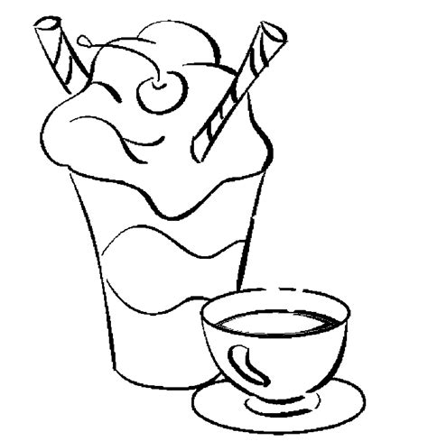 coloring milk shake coloring pages
