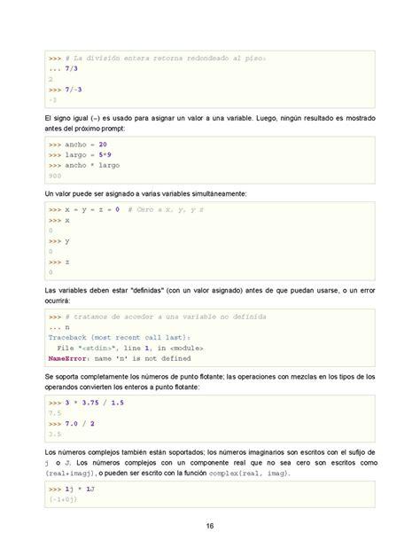 tutorial python pdf el tutorial de python monografias com