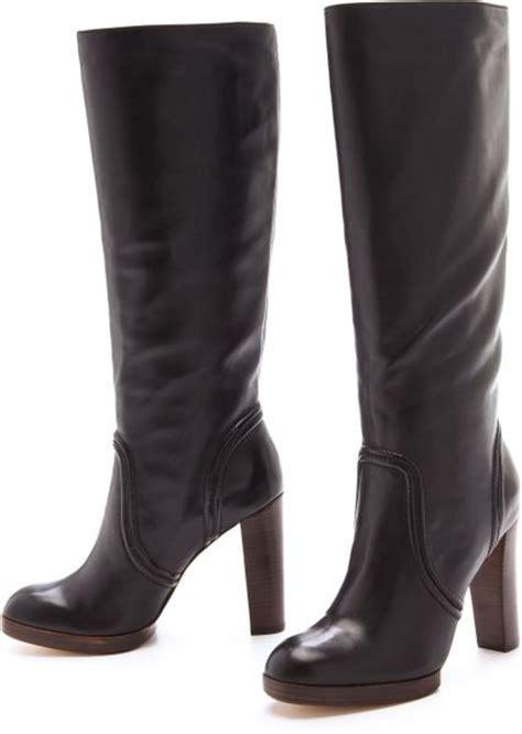 kors by michael kors aila high heel boots in black lyst