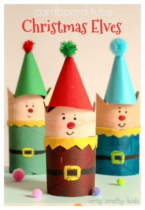 older children christmas crafts cardboard craft arty crafty