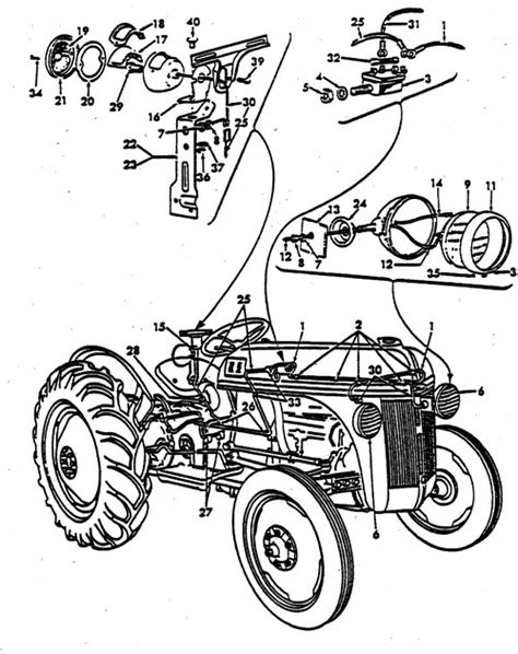 ford 3600 tractor parts diagram wiring diagram for 3600 ford tractor get free image