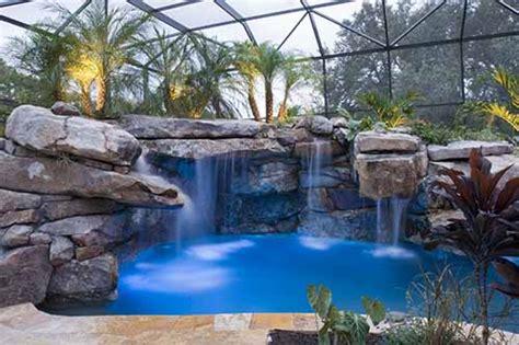 natural stone swimming pool waterfalls top ten grotto florida swimming pool design inground pool lights
