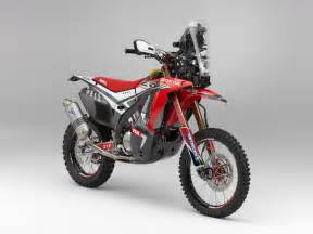 The Honda Hrc Shows The 2014 Honda Crf450 Rally Race Bike