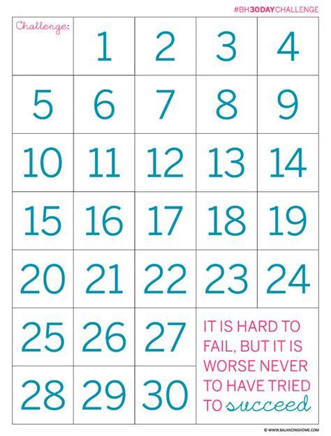 30 day countdown chart calendar template 2016