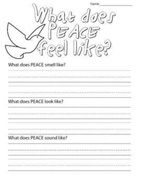 Peace Day Worksheets by Student The O Jays And Peace On