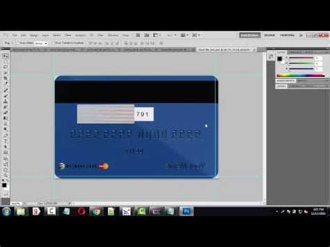 adobe photoshop id card template credit card template tutorial photoshop