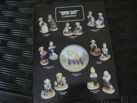 home interiors denim days figurine reference leaflet w