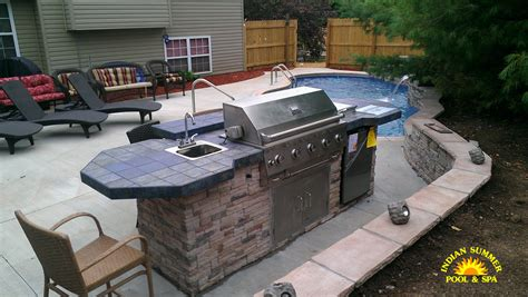 outdoor living  springfield mo outdoor kitchen designs ideas indian summer pool  spa