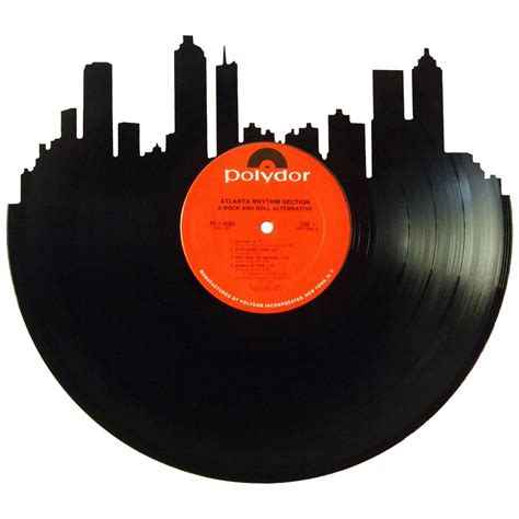 Records Home Atlanta Skyline Vinyl Record Records Redone