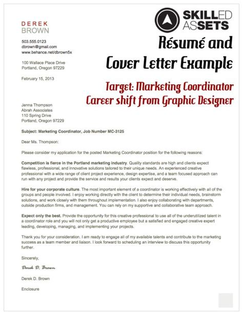 targeted cover letter exles marketing letters and resume on