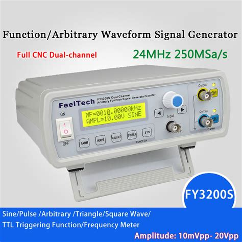 Dual Channel Dds Function Signal Generator Source Frequency 10mhz digital dds function signal source generator arbitrary